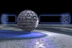 Drapeau en pierre de sphère Images stock