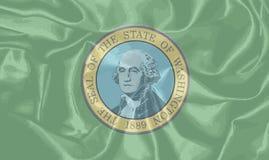 Drapeau en soie de Washington State Image stock