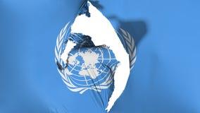 Drapeau endommagé des Nations Unies illustration libre de droits