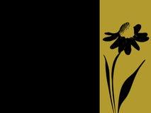 Drapeau estampé de marguerite Illustration Libre de Droits
