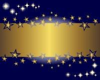 Drapeau et étoiles d'or. Photographie stock