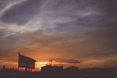 Drapeau et Sun Image libre de droits