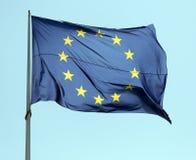 Drapeau européen à Amsterdam Photographie stock libre de droits