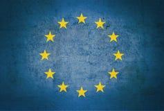 Drapeau européen de vintage Images libres de droits