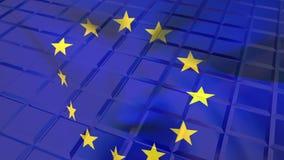 Drapeau européen et modèles carrés illustration libre de droits