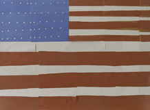 Drapeau fabriqué à la main des USA Images stock