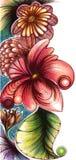 Drapeau floral image libre de droits