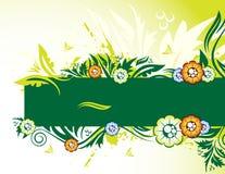 drapeau floral illustration de vecteur
