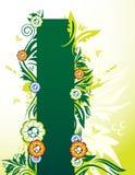 Drapeau floral illustration libre de droits
