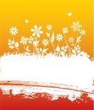 Drapeau floral d'été Images libres de droits