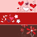 Drapeau floral d'amour Photographie stock libre de droits