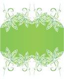 Drapeau floral de fond de source Images libres de droits