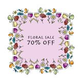 Drapeau floral pour votre conception Images libres de droits