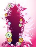 Drapeau floral rose illustration de vecteur
