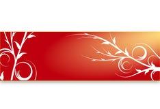 Drapeau floral rouge photographie stock libre de droits
