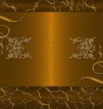 Drapeau foncé d'or Images stock