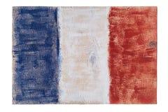 Drapeau français de Frances sur le fond en bois photo libre de droits