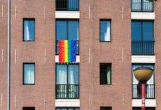 Drapeau gai d'arc-en-ciel Photo libre de droits