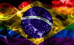 Drapeau gai de fumée du Brésil, drapeau du Brésil illustration de vecteur