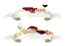Drapeau gastronome Images stock