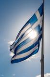 Drapeau grec Photographie stock