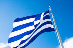 Drapeau grec Photos stock