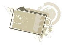 Drapeau gris Image libre de droits