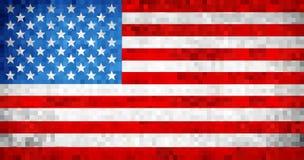 Drapeau grunge abstrait des Etats-Unis de mosaïque Photographie stock