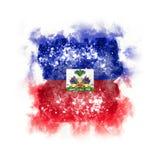 Drapeau grunge carré du Haïti Images libres de droits