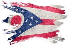Drapeau grunge d'état de l'Ohio Course de brosse de drapeau de l'Ohio Photos libres de droits