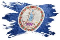Drapeau grunge d'état de la Virginie Course de brosse de drapeau de la Virginie Images libres de droits