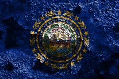 Drapeau grunge d'état de New Hampshire, Etats-Unis d'Amérique Image libre de droits