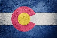 Drapeau grunge d'état du Colorado Texte de grunge de fond de drapeau du Colorado illustration libre de droits