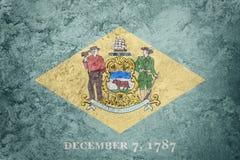 Drapeau grunge d'état du Delaware Texte de grunge de fond de drapeau du Delaware Illustration Libre de Droits