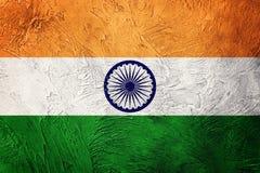 Drapeau grunge d'Inde Drapeau d'Inde avec la texture grunge image libre de droits