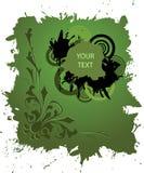 Drapeau grunge dans la couleur verte illustration de vecteur