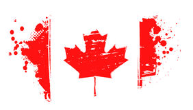 Drapeau grunge de Canada Image libre de droits