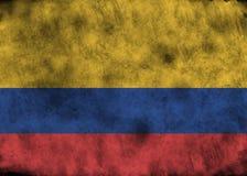 Drapeau grunge de Colombie Photo stock