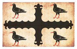 Drapeau grunge de Flintshire Pays de Galles Images libres de droits
