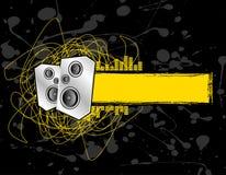 Drapeau grunge de haut-parleur Image libre de droits