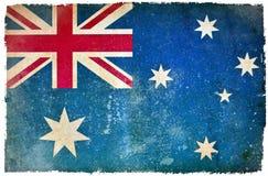 Drapeau grunge de l'Australie illustration stock