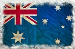 Drapeau grunge de l'Australie illustration de vecteur