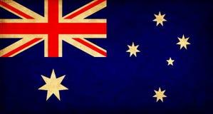 Drapeau grunge de l'Australie illustration libre de droits