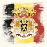 Drapeau grunge de la Belgique images libres de droits
