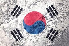 Drapeau grunge de la Corée du Sud Drapeau de la Corée du Sud avec la texture grunge illustration libre de droits