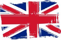 Drapeau grunge de la Grande-Bretagne Image stock