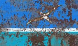 Drapeau grunge de Midway Islands, territoire non autonome la Floride des Etats-Unis Image libre de droits