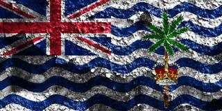 Drapeau grunge de territoire d'Océan Indien britannique, Ter d'outre-mer britannique image libre de droits