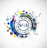 Drapeau grunge de vente Photographie stock libre de droits