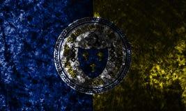 Drapeau grunge de ville de Trenton, état de New Jersey, Etats-Unis d'Amérique illustration libre de droits